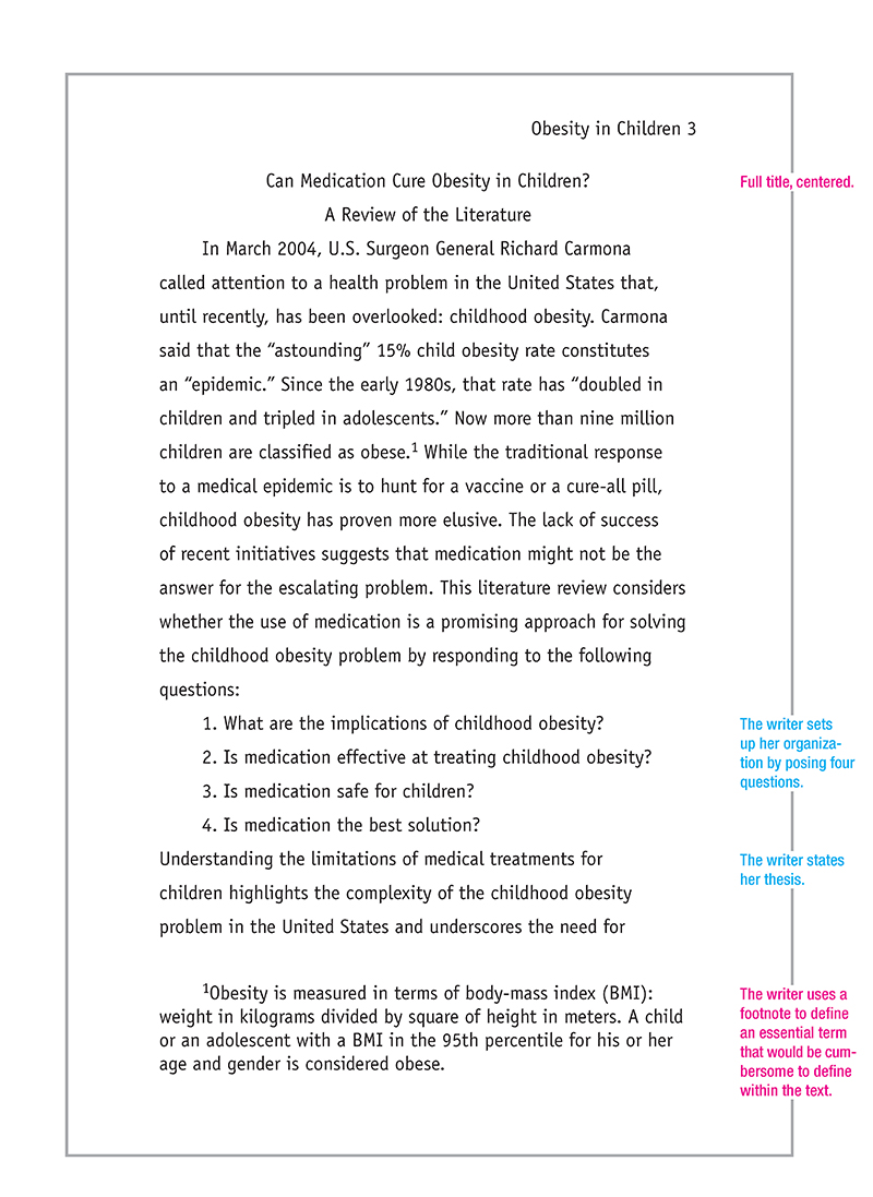 ... in APA format (pink) with good academic-style writing points (blue